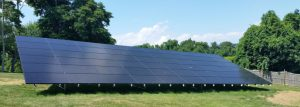 Ground mounted solar residential example