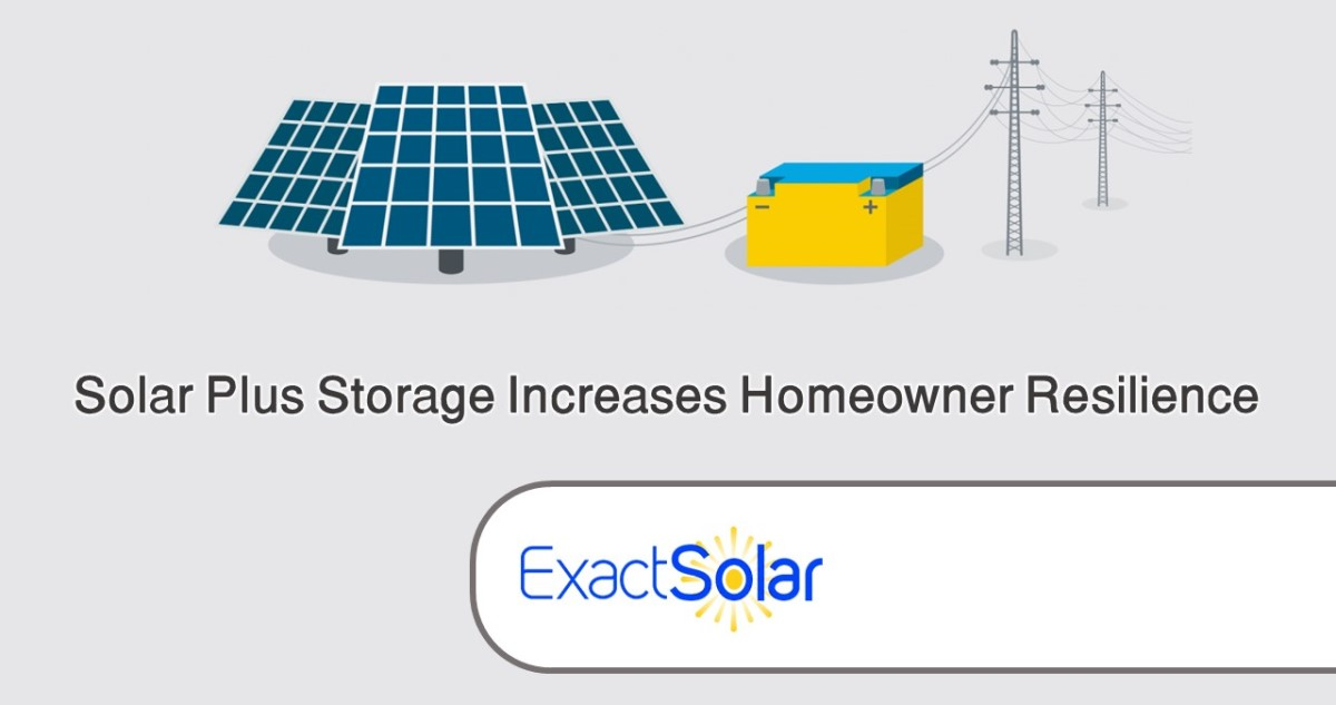 Solar Plus Storage Increases Homeowner Resilience